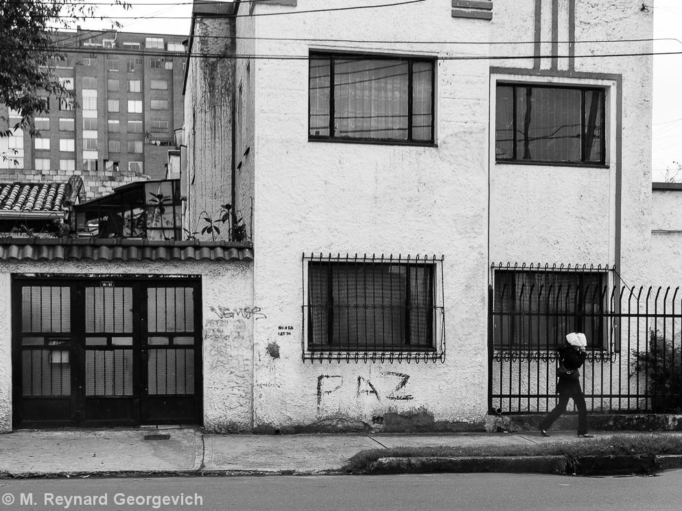 Bogota graffiti Colombia peace