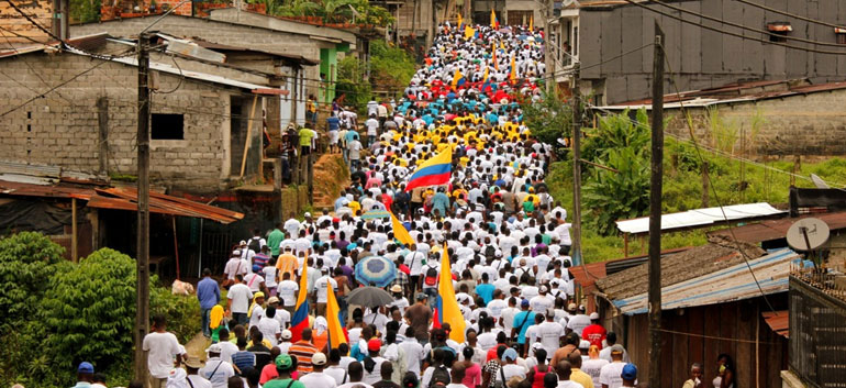 rotests in Sincelejo (Photo: Marcha Patriotica). Via CPT.org